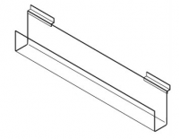 Video/DVD Holder - 600mm Wide - Slatwall Shelf