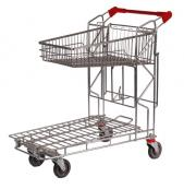 2 Tier Tilt Tray Order Picking Trolley