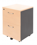 Mobile Pedestal - 2 File Drawers - Clearance Stock